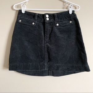 ABERCROMBIE / charcoal corduroy mini skirt / 2